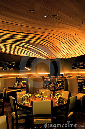 Restaurant dining room Editorial Photo