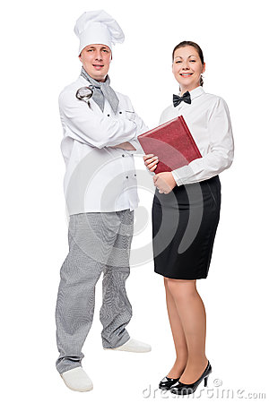 Free Restaurant Employees In Full Length On White Background Royalty Free Stock Photo - 89042435