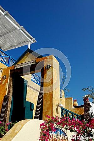 Restaurant Entrance - Santorini, Greece