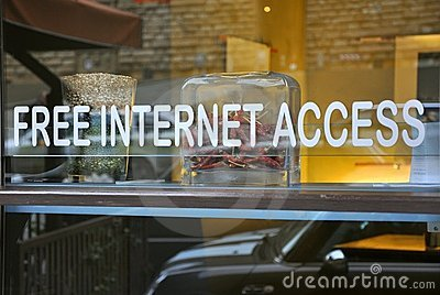 Restaurant with free internet access