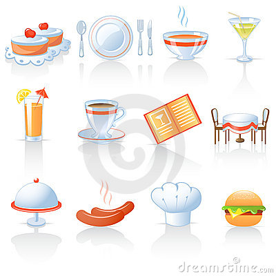 Free Restaurant Icons Royalty Free Stock Image - 14554566