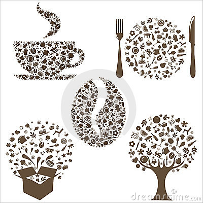 Free Restaurant Icons Royalty Free Stock Photo - 18315725