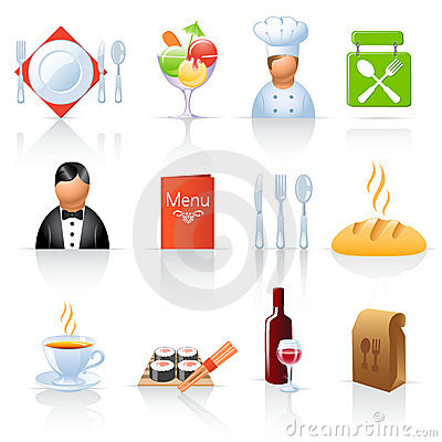Free Restaurant Icons Stock Images - 21719574