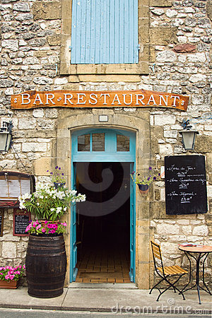 Free Restaurant In The Dordogne Region Of France Royalty Free Stock Photo - 15787235