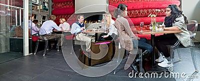 Restaurant interior panorama