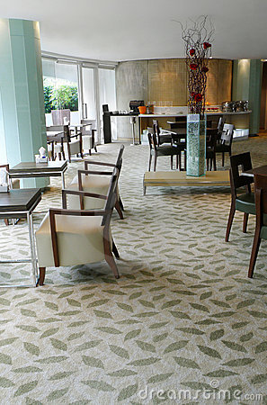 Restaurant interior upscale hotel executive lounge