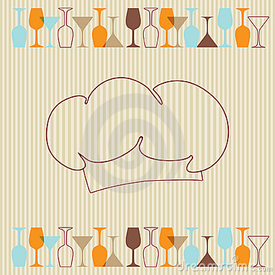 Restaurant menu background with wine bottles and g