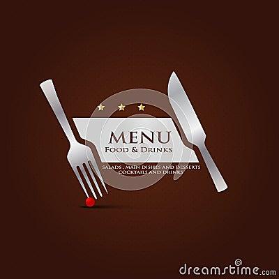 Restaurant Menu Cover Design Stock Photo Image 32457680