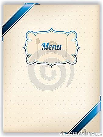 Restaurant menu design in old style