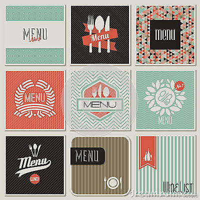 Restaurant menu designs. Vector illustration.