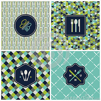 Free Restaurant Menu Seamless Pattern. Vector Set Stock Image - 31707231