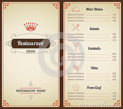 Drink Menu Template Add Alcohol