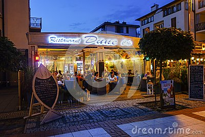 Restaurant by night Editorial Image