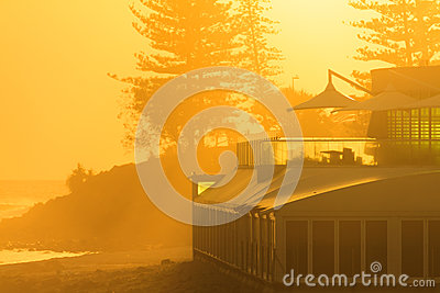 Closeup of restaurant by the ocean in Burleigh Heads