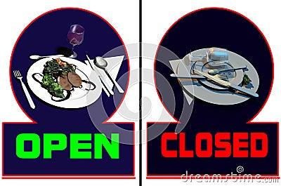 Restaurant open-closed
