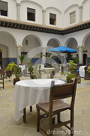 Restaurant in patio