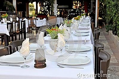 Restaurant patio tables