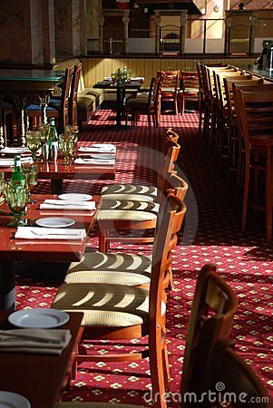Restaurant ready for diners