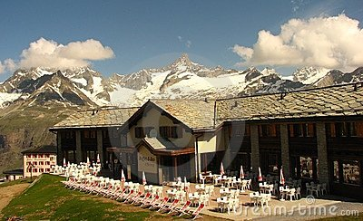 A restaurant at Riffelberg, Zermatt Editorial Photo