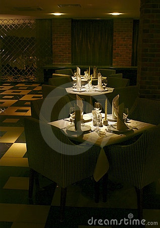 Free Restaurant Served Tables Royalty Free Stock Images - 3559479