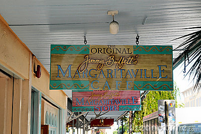 Restaurant signs in Key west Editorial Stock Image