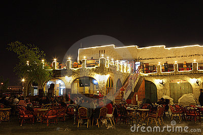 Restaurant in Souq Waqif, Doha Editorial Stock Photo