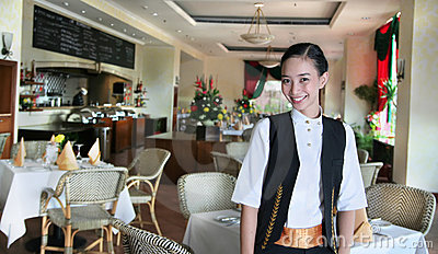 Restaurant staff at work