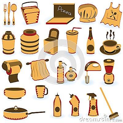 Restaurant supply icons