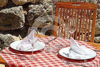 Restaurant table detail