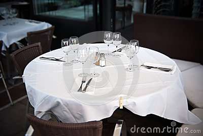 Restaurant, table for four