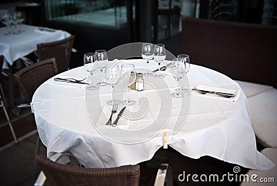 Restaurant, table for four