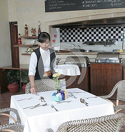 Restaurant table manner