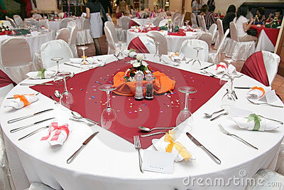Restaurant Table Setup Stock Images Image 7746164