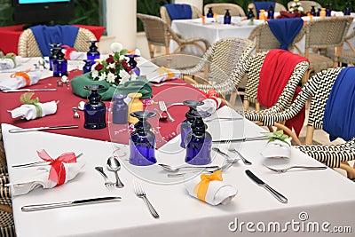 Restaurant table setup