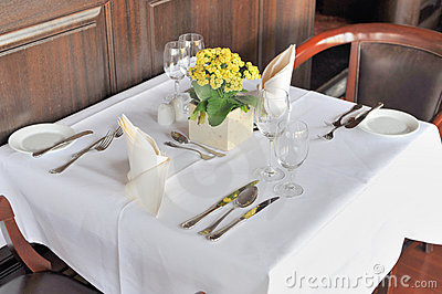 Restaurant table for two