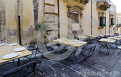 Restaurant Terrace in Noto