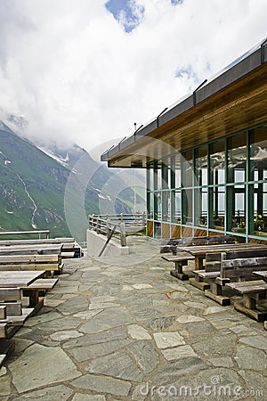 Restaurant on the top of a mountain in Kaprun