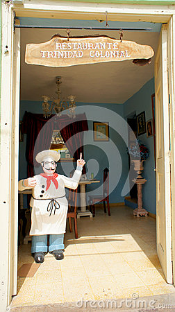 Restaurant in Trinidad. Private business. Cuba. Editorial Photography