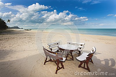 Restaurant on tropical beach