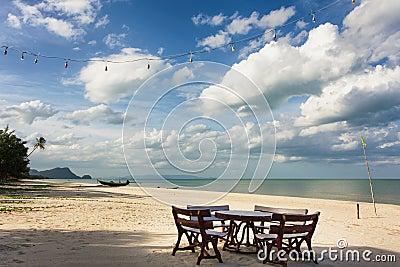 Restaurant on tropical beach
