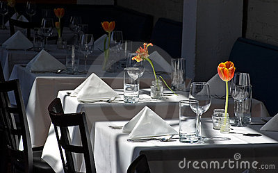 Restaurant White Cloth Tables