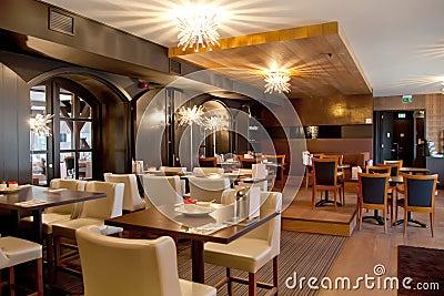 Restaurante moderno foto de stock imagem 19541870 for Planos de restaurantes modernos