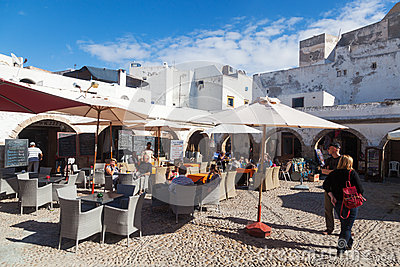 Restaurants in Essaouira Editorial Photography