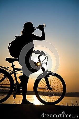 Resting bicycler
