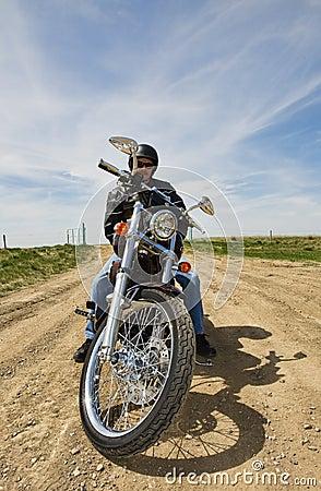 Resting biker