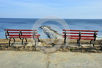 Resting place on sea panorama