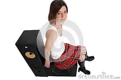 Resting on speakers