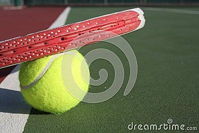 Resting Tennis Racquet