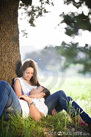 Free Resting Young Couple Stock Photo - 14194030