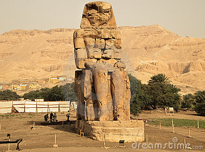 Restoration of Colossi of Memnon